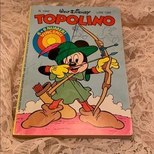 1987 Micky Mouse Book in Italian?
